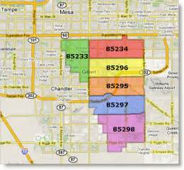 Chandler Zip Code Map by Mesa Az Zip Code Map Submited Images