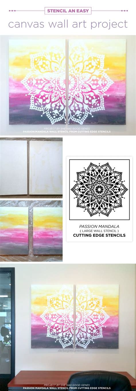 canvas gold pattern unlock 25 best ideas about stencil wall art on pinterest diy
