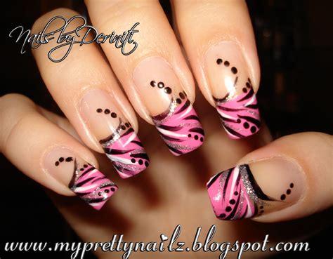 Harga Forever Fierce my pretty nailz abstract pink tip nail design