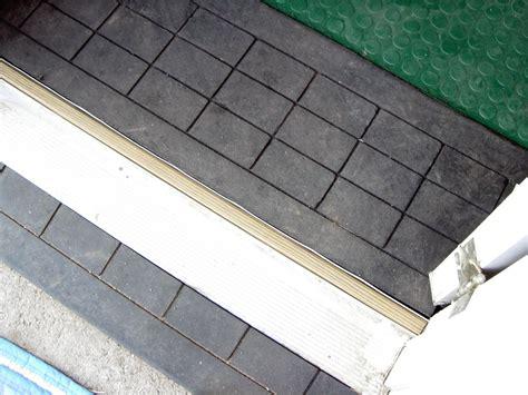 install rubber flooring   threshold ramp