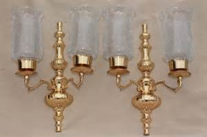 Brass Candle Sconce Vintage Polished Brass Candle Sconces Wall Sconce Set W