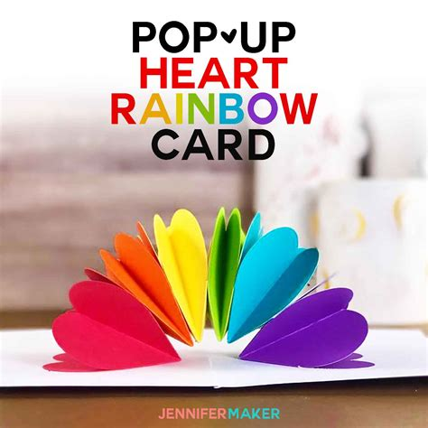 eye pop up card template make a pop up rainbow card maker