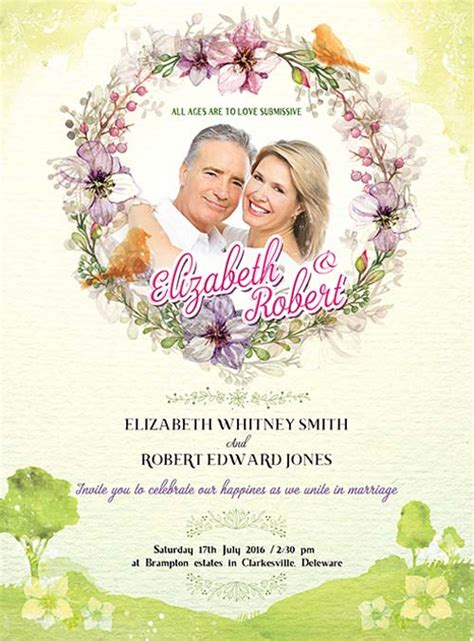 download wedding invitation free psd flyer template psd