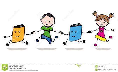 imagenes de niños virtuales ni 241 os y libros ilustraci 243 n del vector imagen 53671933