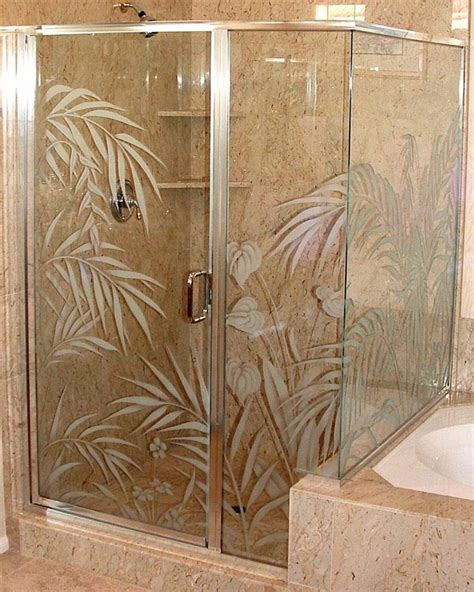 Etched Glass Bathroom Door 23 Best Images About Etching On Glass On