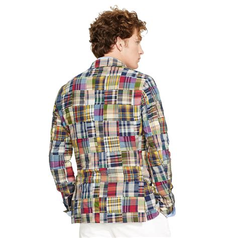 Ralph Patchwork - polo ralph patchwork madras sport coat lyst