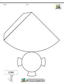 cone template 3d geometric shapes nets