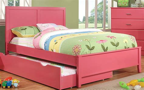 kids bed with trundle kids trundle beds classic kids trundle bed white view 3