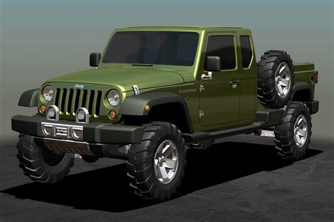 new jeep truck soon jeep will present its new model pick up garage car