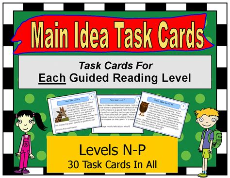 common tasks in gimp 2 8 books literacy math ideas task cards by guided reading level