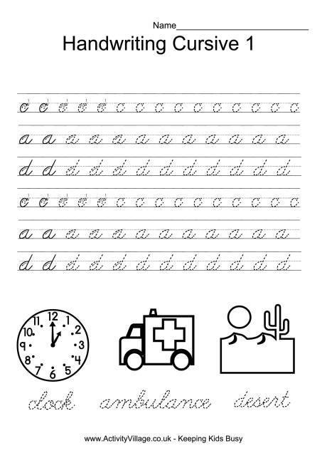 free printable cursive handwriting worksheets uk handwriting practice cursive 1