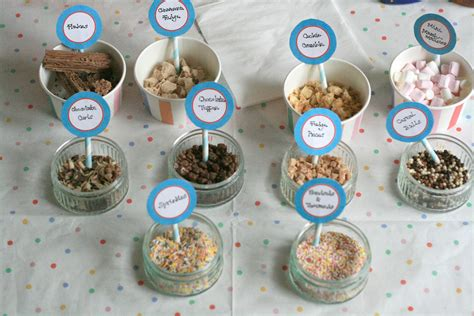 ice cream bar toppings list ice cream party ice cream bars and picnic parties