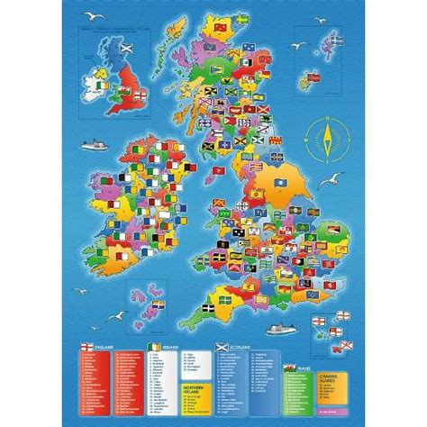 counties map giant floor puzzle jigsaw puzzle
