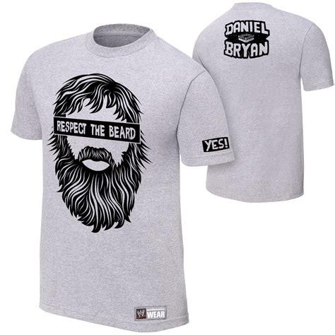 T Shirt Kaos Daniel Bryan Respect The Beard 02 Grey daniel bryan quot respect the beard quot t shirt wwegifts