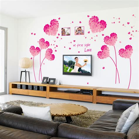 fashion red love heart wall stickers home decor life tree aliexpress com buy fashion red love heart wall decor