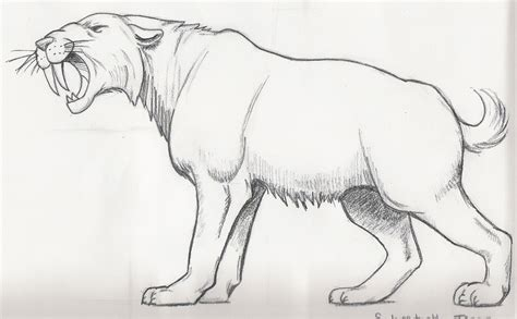 sabretooth tiger by shojintakaru on deviantart