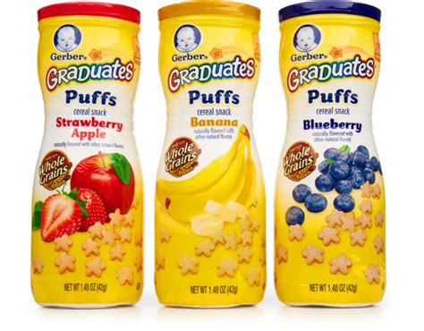 Gerber Puffs gerber puffs cereal snack 8 x 1 48 oz variety pack boxed