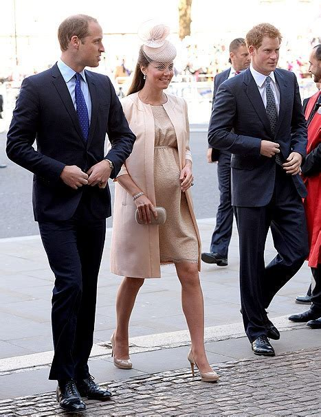 Pregnant Kate Middleton Looks Adorable in Pink Outfit With