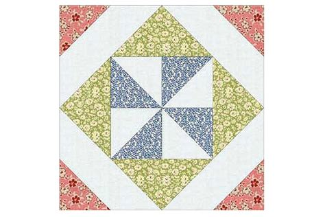 Square Quilt Block by Pinwheel In A Square Quilt Block Pattern