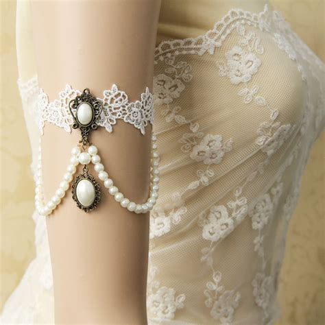 Fashion Handmade - lace arm arm bangles handmade summer fashion
