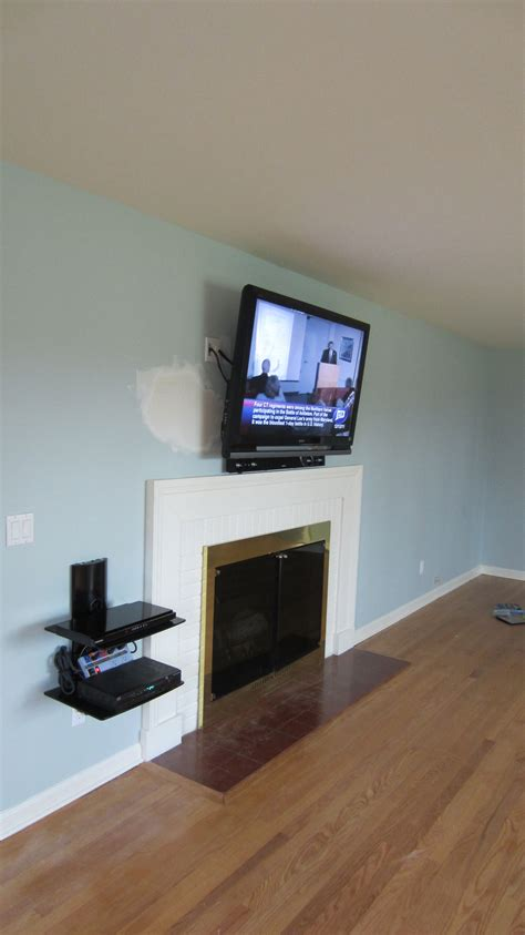 Mounting Tv Above Fireplace Cable Box by New Fairfield Ct Mount Tv Above Fireplace Home Theater