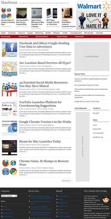 adsense on wordpress best adsense optimized wordpress themes