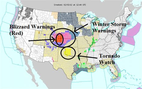 us map of weather warnings a mild winter across the united states earth earthsky