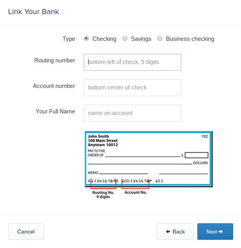 whose bank account number is this coinbase payment methods for us customers