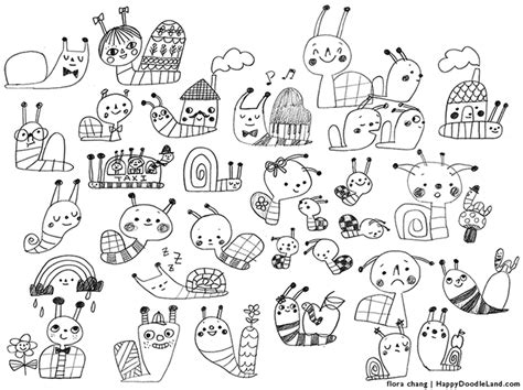 all doodle flora chang happy doodle land