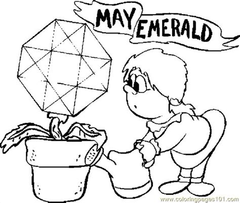 05 may emerald coloring page free flowers coloring pages