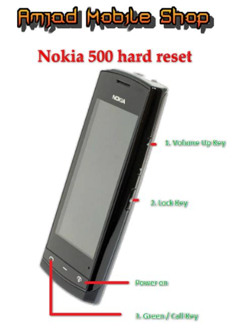 nokia resetting software nokia 500 hard reset