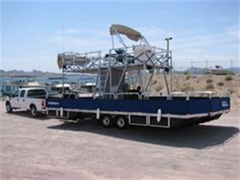 tarzan boats havasu trailerable pontoon houseboat trailerable power