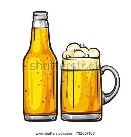 cartoon beer bottle beer cartoon stock images royalty free images vectors