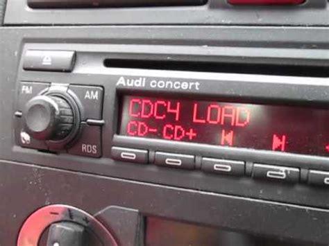 audi concert stereo audi a3 concert stereo 6 cd changer test 8p
