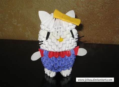 3d Hello Origami - 3d origami hello by jchau on deviantart