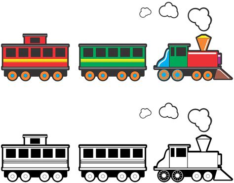 Toy or cartoon train clip art photos and images clip art