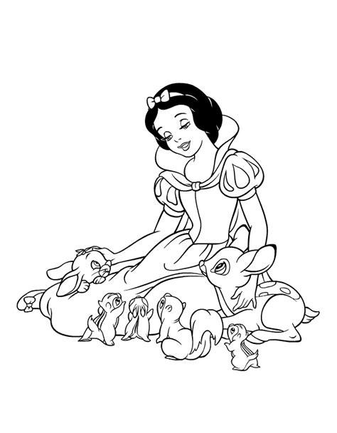 snow princess coloring page free printable snow white princess coloring pages