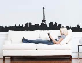 Wall Graphics Stickers paris skyline wall graphic wall decal wall sticker