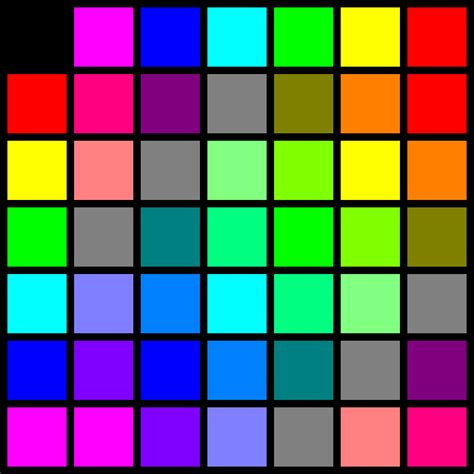 rgb color table rgb color table by junguler on deviantart