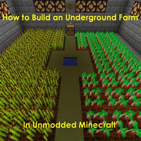 build  underground farm  minecraft levelskip