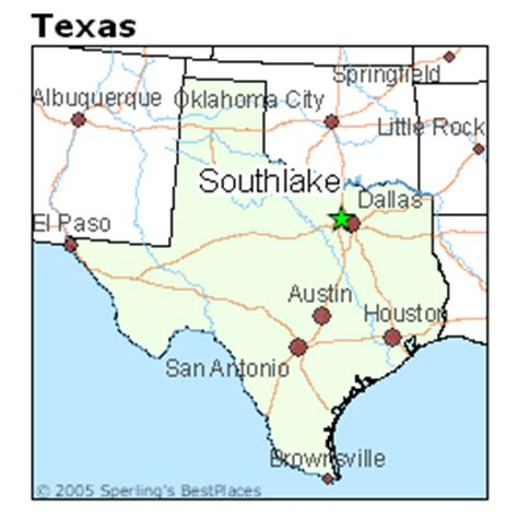 where is southlake texas on a map of texas best places to live in southlake texas