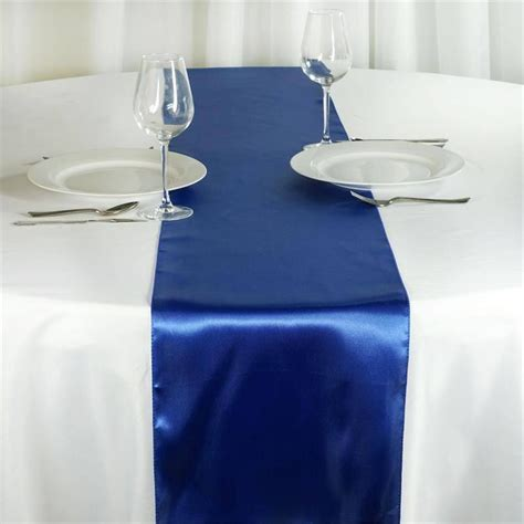 Satin Table Runner Taplak Satin Ungu satin table runner royal blue 12 x 108 quot efavormart