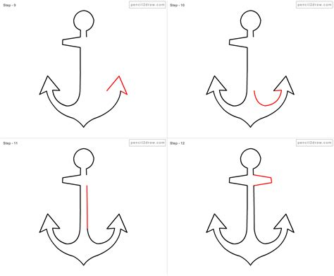 new how to draw an anchor with a step by step draw