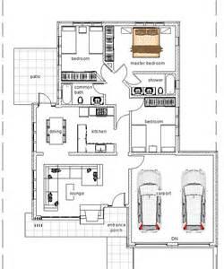 3 bed room elegant three bedroom bungalow house plan david chola architect