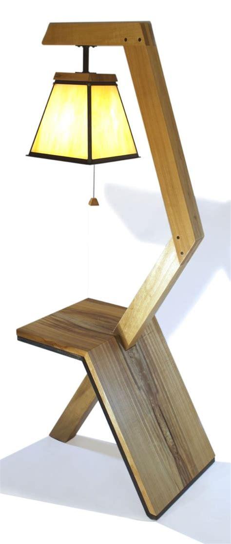 custom floor lamp table  aaron smith woodworker
