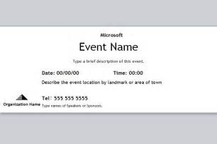 Event Ticket Template by Event Ticket Template Free Event Ticket Template