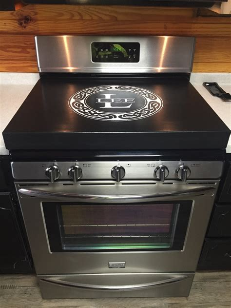 cooktop covers gas range topper stove top cover engraved