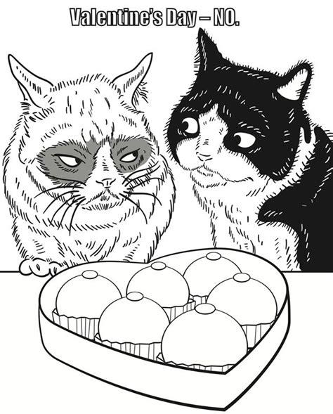 grumpy cat coloring book  love cats