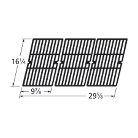Heavy Duty Bbq Parts 61593 Gloss Cast Iron Cooking Grid Backyard Grill Replacement Parts