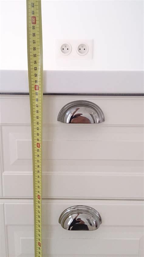 hauteur 駘駑ents de cuisine prise 233 lectrique pour plan de travail la bonne hauteur